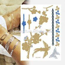 Get Better Life Popular Skin Jewelry Body Temporary Tattoo Sticker Custom Make Glitter Stickers Wholesale Necklace Tattoos