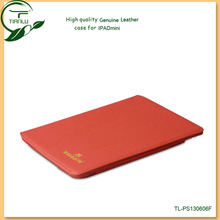 For ipad mini leather case with high quality(Paypal acceptable),genuine leather flip case for ipad mini