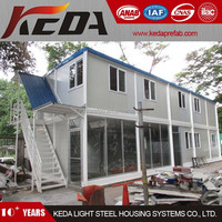 Two Storey Modular House Container Office Shop Store for Sale in China 36(3)