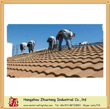 easy installation very low price red clay color metal roofing sheet