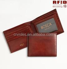 Genuine Leather Brown-Red RFID Blocking Wallet For Men ( Bi-Fold - 10 Slots)