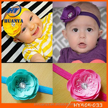 2015 Latest handmade korean stretch fancy flower kids headband