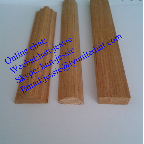 Linyi factory sell high quality teak wood moulding to Crown molding india