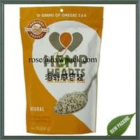 hot sale aluminum foil nutrient hemp seed packaging bag with ziplock