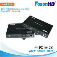HDMI Extender over 20km SC multi model fiber with Ethernet pass-through