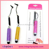 2015 fashion trendy touch pen with key chain,popular ballpoint touch pen