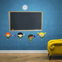 Factory supply home or office custom designs removable pvc chalkboard stickers