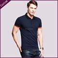personalizado bordado preto camisa polo manga curta camisa de trabalho
