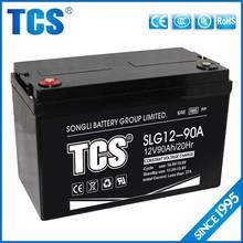 12v90ah external storage battery hydraulic accumulator solar gel battery