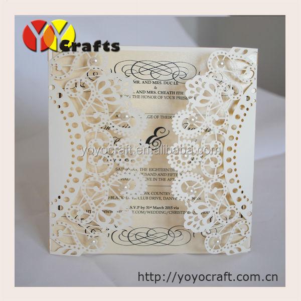 Simple Paper Folding Invitation Wedding CardsUnique Wedding Invitation Card For Sale