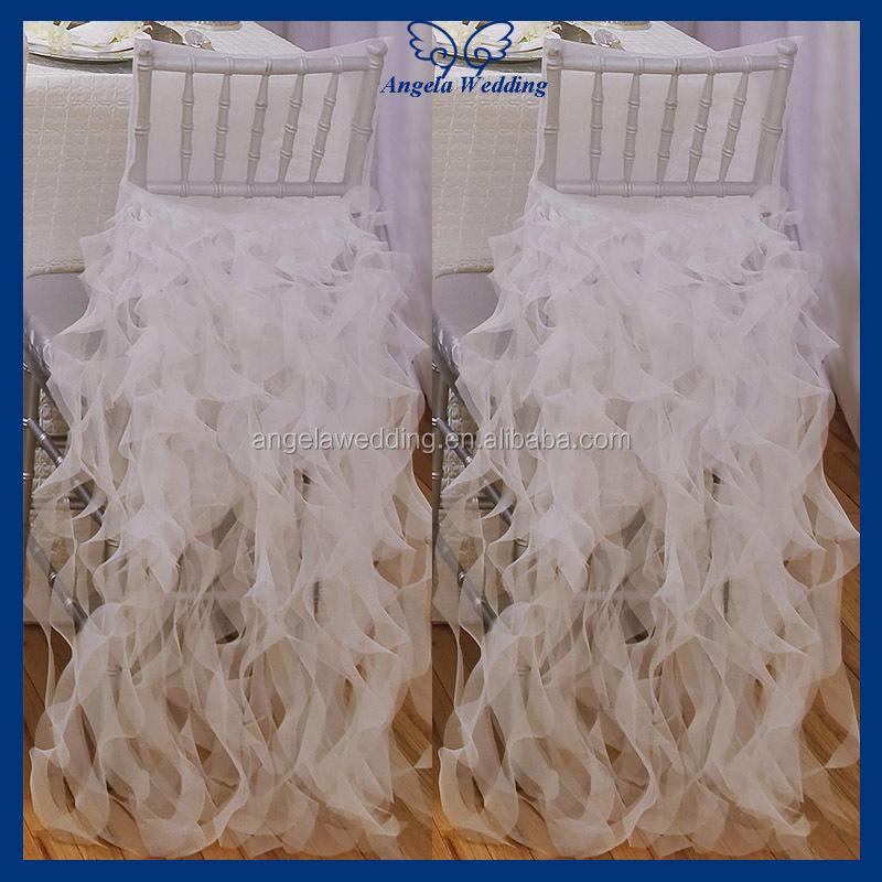 Ch098c Wholesale Nice Cheap Organza Wedding Ruffled Curly