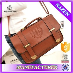 flip style latest japanese sling bag for teenagers with embossed Crown