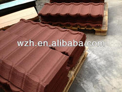 manufacture of stone coated alu-zinc steel roof tile