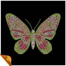 Fashion design environmental iron on rhinestone butterflies