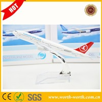 2015 New products Turkish B777 airline aircraft model, air vehicles toy collectibles wholesale