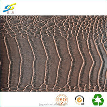 PVC Emboss crocodile artificial leather for bag wallet