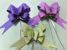 gift packing glitter pull bow
