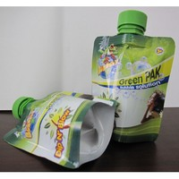 high quality stand up 300ml juice spout pouch