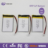 Battery producer UL approved 3.7v lithium 2000mah rechageable polymer battery for radio/mp4/light
