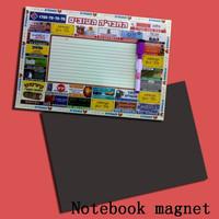 Notebook refrigerator magnet/Memo fridge magnet/Message board fridge magnet