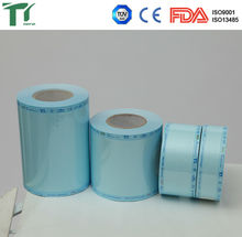 Medical Heat Sealing Sterilization Flat Reel Pouch with steam & EO indicator