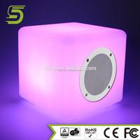 Battery powered led bulb speaker