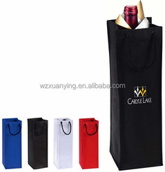 Shopping Industry Use and Custom Printed Paper Wine Bag