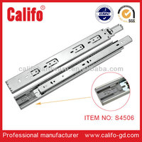 telescopic channel 3 ball bearing kitchen cabinet tool box drawer slides