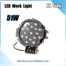 2015 High quanlity waterproof 51W offroad 7inch LED headlight