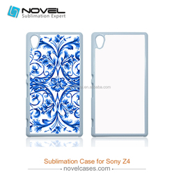 Luxury 2D unique sublimation blank phone cover for Sony Z4