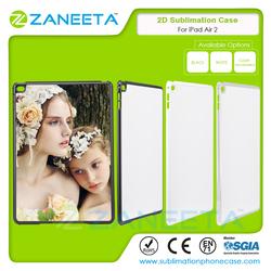 Wholesale 2D Sublimation Case for iPad Air 2 Heat Transfer Sublimation Hard PC case for iPad Air 2 with metal sheet