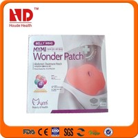 2015 new product korea belly wing of mymi slimming patch