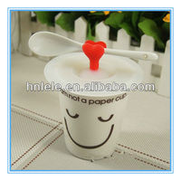 2015 new design silicone rubber coffee cup lid and sleeve