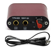 Alloy Casing Mini Tattoo Power Supply US Plug - Red