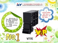 vending machine bank note validator of ICT V77E with USB online upgrade and 1000 bills box