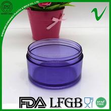 PET purple clear mini round 100g container plastic for sale