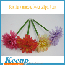 Wholesale Fabric Polymer Clay Vimineous Flower Ball Pen for Gift Souvenirs