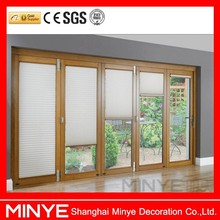 China Supplier Aluminum Folding Door with Electric Blinds/Aluminum Doors
