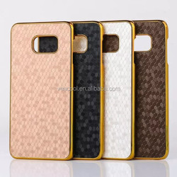 New Luxury Leather Chrome Hard Back Case for Samsung Galaxy Note 5/ Note 5 Edge