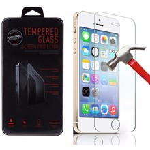 Wholesale 9H hardness 0.33mm tempered glass screen protector for iphone 5