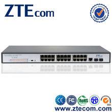 ZTEcom gigabit Layer 2 redundant power supply 24 port poe switch