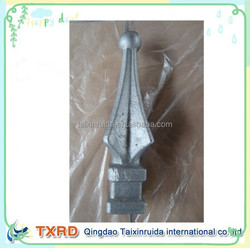 high quality easy welded wrought iron fence finial