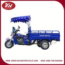 Cheap price of air-cooled 200cc engine chinese three wheel motorcycles made in China with front sunshield