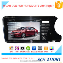 9 inch car dvd gps navigation for HONDA for CITY system with TV/Bluetooth/iPod/RDS/mp3/radio