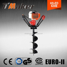 High quality strong power portable hand displacement earth drill
