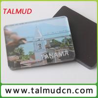 rectangle shape plastic acrylic photo frame fridge magnet with picture insert