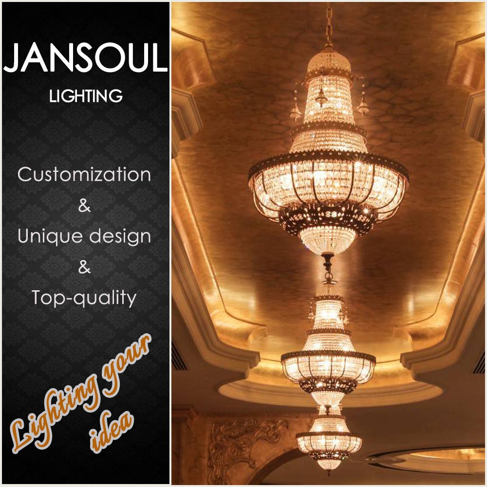 Noble Large Crystal Chandelier Luxurious Round Pendant ...