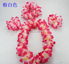 Artificial wholesale Hawaiian leis flower necklace for party decor