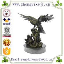 factory custom-made handmade carved fashion bronze eagle sculpture