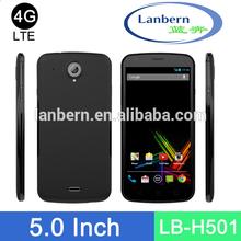 Teléfono inteligente personalizada GMS 1.3GHz Licencia 1280 * 720 de 5 pulgadas de cuatro núcleos mt6582 oem teléfono móvil del androide LB-H501